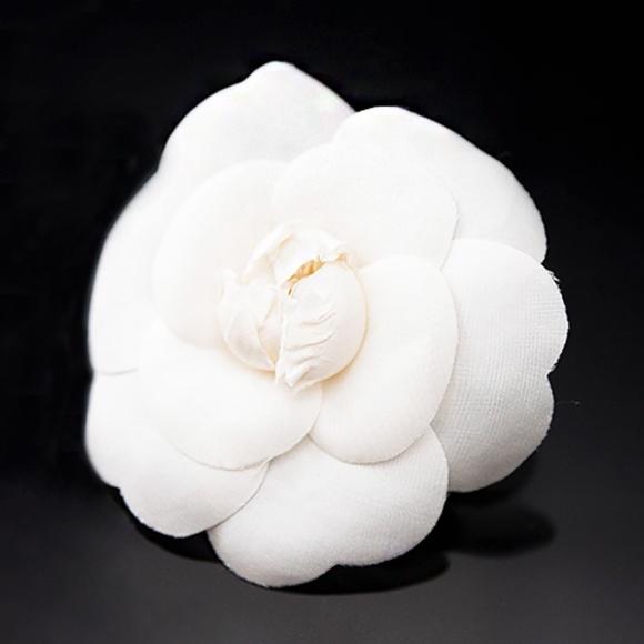 Chanel Accessories Classic Camellia White Poshmark